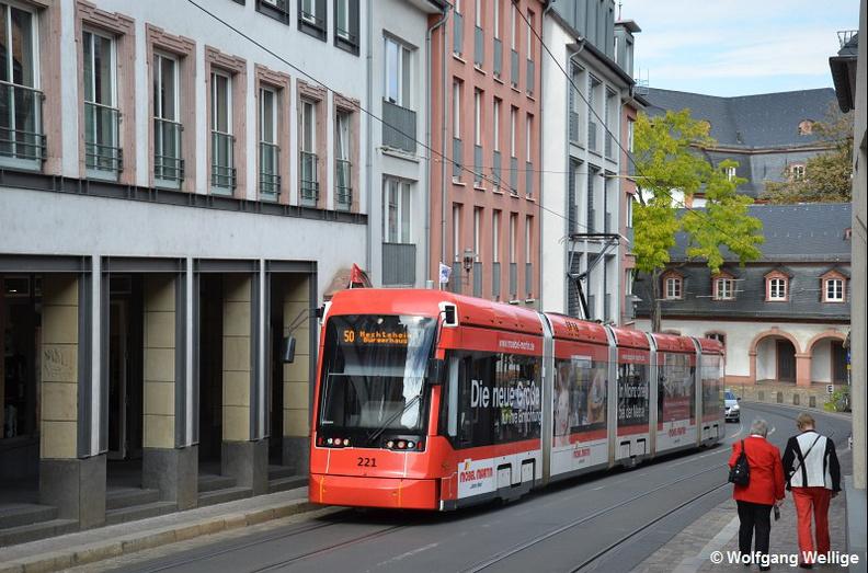 Straßenbahn Mainz 221 Schillerplatz Railfocuseu